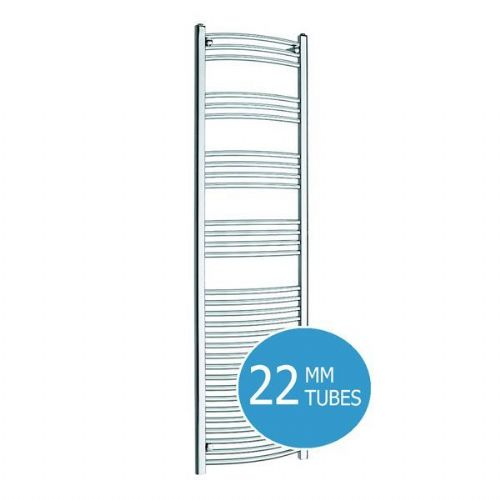 Kartell K-Rail Curved Towel Rail - 500mm x 1800mm - Chrome